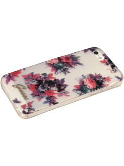 Чехол Guess для iPhone 5S/SE BLOSSOM Hard TPU Transparent Flower GUESS