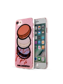 Чехол Lagerfeld iPhone 7/8 Double layer Macaroon Hard TPU Glitter pink Karl Lagerfeld