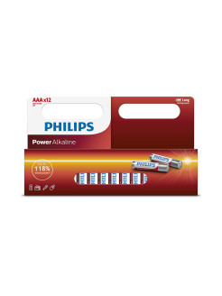 Батарея Power Alkaline LR03P12W ААА Philips