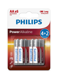 Батарея Power Alkaline LR6P6BP АА Philips