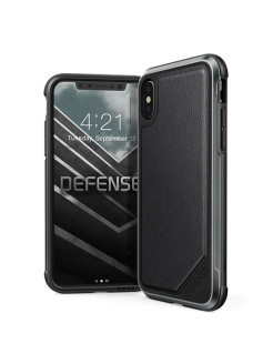 Чехол X-Doria Defense Lux - кейс для iPhone X Black Leather x-doria