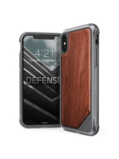 Чехол X-Doria Defense Lux - кейс для iPhone X Rose Wood x-doria