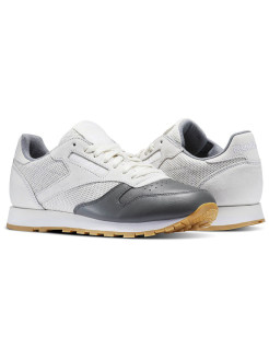Кроссовки CL LEATHER LS CHALK/ALLOY/WHITE-GU Reebok