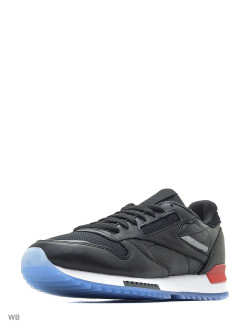 Кроссовки CL LEATHER RIPPLE L BLACK/WHITE/RED/DUST Reebok
