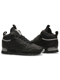 Сникеры CL LTHR MID SHERPA BLACK/MEDIUM GREY/GR Reebok