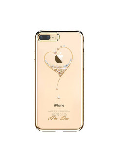 Чехол с Swarovski Kingxbar Starry Sky Gold для iPhone 8 Plus / 7 Plus Heart Kingxbar