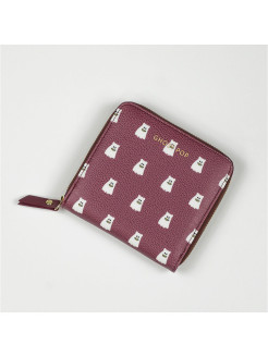Кошелек Ghostpop zipper wallet S  Burgundy GMZ