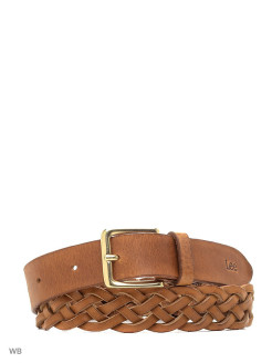 Ремень BRAIDED BELT DARK COGNAC LEE