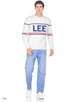 Свитер 90S LOGO CREW SHARP GREY MELE LEE