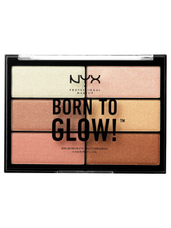 Палетка хайлайтеров. BORN TO GLOW HIGHLIGHTING PALETTE NYX PROFESSIONAL MAKEUP