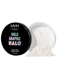 Рассыпчатая финишная пудра. HOLOGRAPHIC HALO FINISHING POWDER -MERMAZING 01 NYX PROFESSIONAL MAKEUP