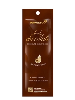 Крем Body Chocolate Bronzing, молочко для загара с усиленными бронзаторами и гранулами масла какао Tannymaxx