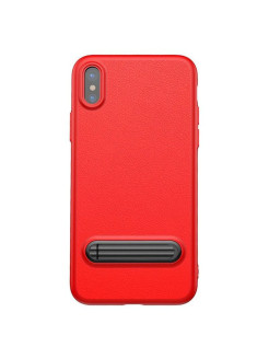 Чехол-накладка Apple iPhone X Baseus Happy Watching Supporting Red BASEUS