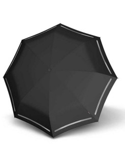 Umbrella T.200 Medium Duomatic REFLECTIVE BLACK KNIRPS