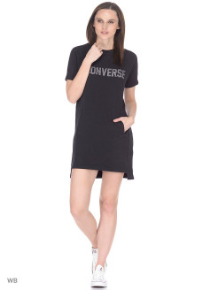 Платье Speckled Graphic Short Sleeve Sweatshirt Dress Converse