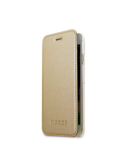 Guess для iPhone 7/8 Iridescent Booktype PU Gold GUESS