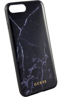 Guess для iPhone 7+/8+ Marble Collection Hard TPU Black GUESS