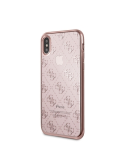 Guess для iPhone X 4G Transparent Hard TPU Rose Gold GUESS