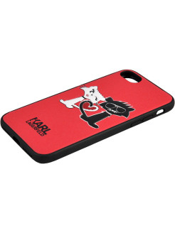 Lagerfeld для iPhone 7/8 Choupette in love Hard PU Red Karl Lagerfeld