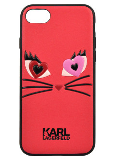 Lagerfeld для iPhone 7/8 Choupette in love 2 Hard PU Red Karl Lagerfeld