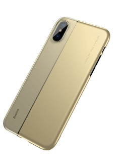 Чехол-накладка Apple iPhone X Baseus Half to Half Gold BASEUS