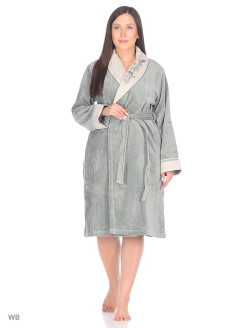 Dressing gown female Hira Ecocotton