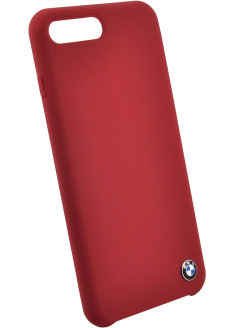Чехол BMW для iPhone 7+/8+ Signature Liquid silicone Hard Red BMW