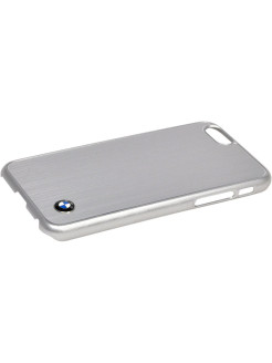 Чехол BMW для iPhone 6/6S Signature Brushed aluminium Hard Silver BMW