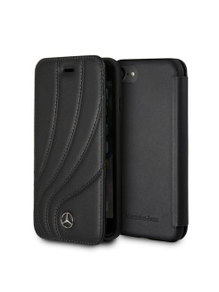 Mercedes для iPhone 7/8 New Organic ll Booktype Leather Black MERCEDES-BENZ