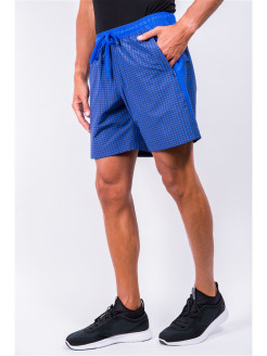 Checked shorts with pockets A-sport
