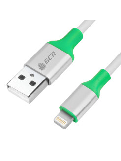 Кабель 1.5m Apple USB 2.0,  AM/Lightning для Iphone 5/6/7/8/X - поддержка всех IOS, белый, GCR-IP3. GCR
