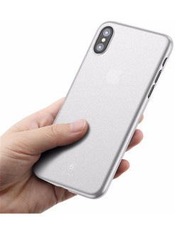 Чехол-накладка Apple iPhone X Baseus Wing White BASEUS