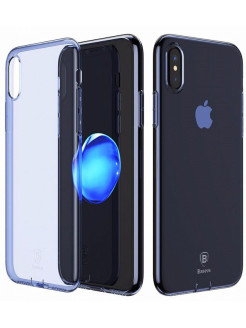 Чехол-накладка Apple iPhone X Baseus With Pluggy Blue BASEUS