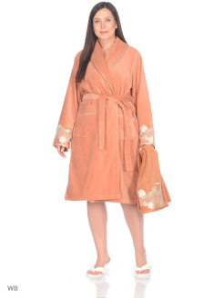 Set Bathrobe female 3 items Verda Ecocotton