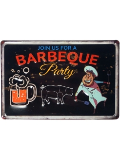 "Табличка декоративная  30х20 см  (""Barbeque"") ArteNuevo"