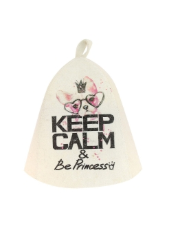 Колпак для бани и сауны Keep calm and be a princess PROFFI