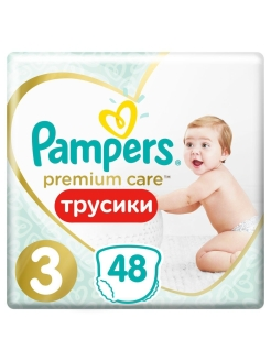 Трусики Pampers Premium Care 6-11 кг, размер 3, 48 шт. Pampers