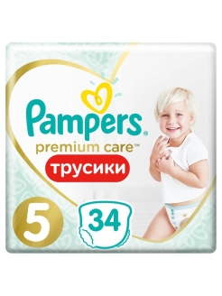 Трусики Pampers Premium Care 12-17 кг, размер 5, 34 шт. Pampers