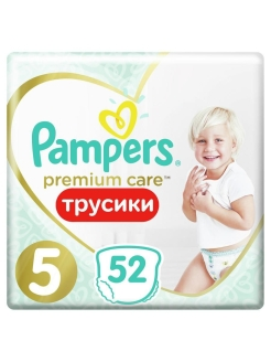 Трусики Pampers Premium Care 12-17 кг, размер 5, 52 шт. Pampers