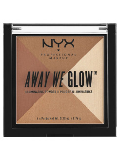 Многофункциональный хайлайтер. AWAY WE GLOW ILLUMINATING POWDER - SHIMMER THRILL 02 NYX PROFESSIONAL MAKEUP