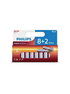 Батарея Power Alkaline LR6P10WP/10 AA Philips