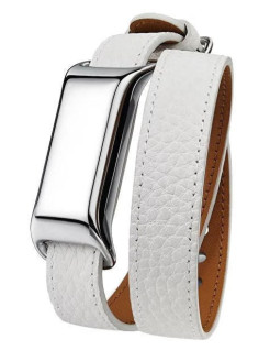Фитнес-браслет MB12 MOVEBAND  (Metal Chrome/White) TCL