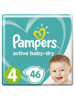 Подгузники Pampers Active Baby Dry 9-14 кг, размер 4, 46 шт Pampers