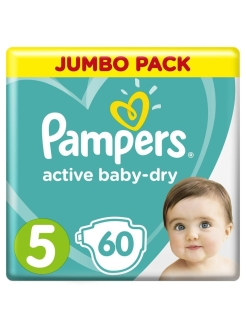 Подгузники Pampers Active Baby Dry 11-16 кг, размер 5, 60 шт Pampers