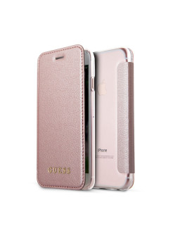 Чехол для iPhone 7/8 Iridescent Booktype PU Rose gold GUESS