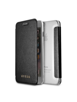 Чехол для iPhone 7Plus/8Plus Iridescent Booktype PU Black GUESS
