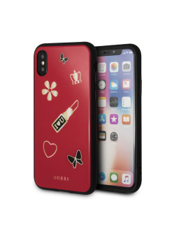 Чехол Guess для iPhone X Iconic Acrylic Hard Red GUESS