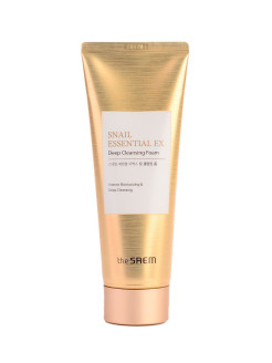 Пенка для умывания Snail Essential EX Wrinkle Solution Deep Cleansing Foam the SAEM