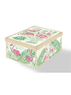 Коробка для хранения Collection FLAMINGOS 39*50*24см Lavatelli