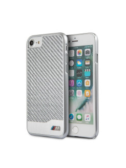 Чехол для iPhone 7/8 M-Collection Aluminium&Carbon Hard Silver BMW